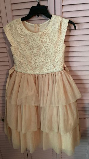 Flower girl dress size 12 with tags for Sale in Sunrise, FL