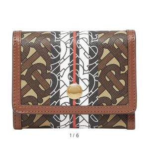 Burberry Small Monogram Stripe E-Canvas Wallet for Sale in Fort Lauderdale, FL