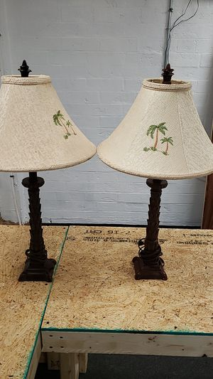 Brown Palm Tree lamps for Sale in High Point, NC