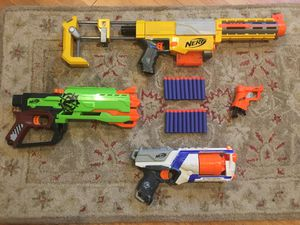 Nerf gun lot with Recon, Crossfirebow, Strongarm, and more for Sale in Los Angeles, CA