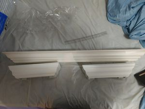 3 wall-hanging shelves white for Sale in Bakersfield, CA