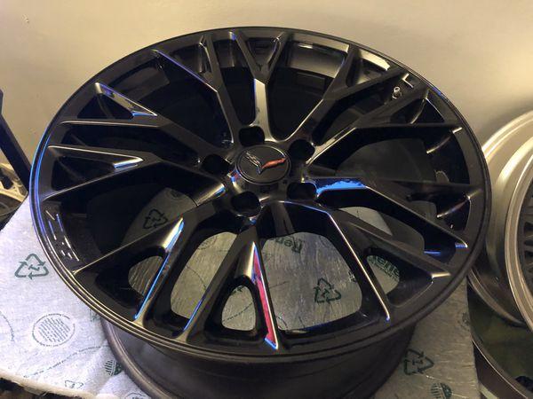 """C7 Z06 OEM wheels 19"""" x 10"""" 20"""" x 12"""""""