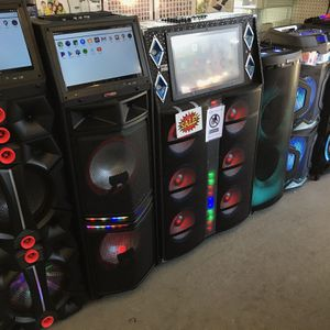 Karaoke Speakers With LCD WIFI BLUETOOTH New With Warranty! for Sale in Houston, TX