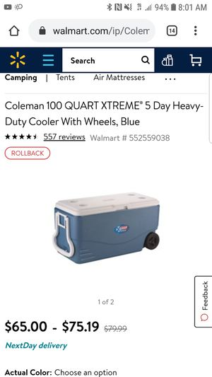 Coleman 100 Quart Xtreme Cooler for Sale in Long Beach, CA