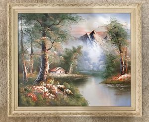Vintage Original Landscape Oil Painting, Signed M. Scott for Sale in West Covina, CA