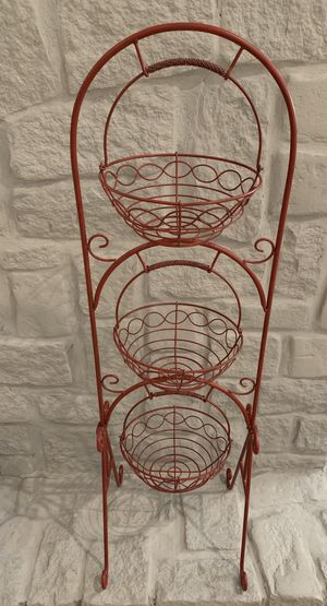 3 Tier Metal Stand with 3 Baskets for Sale in Virginia Beach, VA