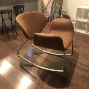 Suede Rocking Chair. for Sale in Jersey City, NJ