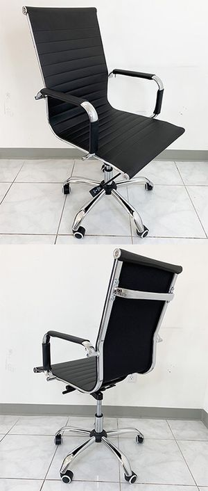 (NEW) $85 Executive Computer Office Chair Mid Back Adjustable Seat Recline PU Leather for Sale in South El Monte, CA