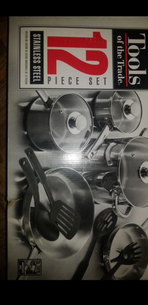 Tools Of The Trade Stainless Steel 12pc Cookware Set for Sale in Washington, DC