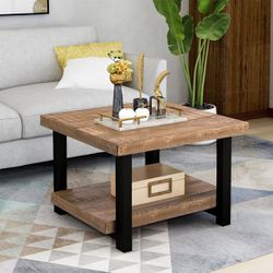 Brand New Solid Wood Rustic Natural Coffee Table with Storage Shelf for Sale in Ontario,  CA
