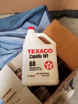 TEXACO Capella WF 68 refrigeration oil 6 gallons for Sale in Los Angeles, CA