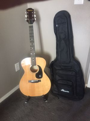 Vintage Epiphone Acoustic Guitar w Extras for Sale in Thornton, CO