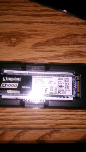 Kingston 240gb Nvme Pci Express 3.0 x2 M.2 form factor ssd for Sale in Livingston, CA