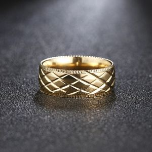 UNISEX 18K Gold plated Carving Engagement/Wedding Ring for Sale in Houston, TX