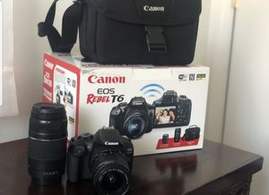 Canon Rebel T6 mint condition for Sale in Alexandria, VA