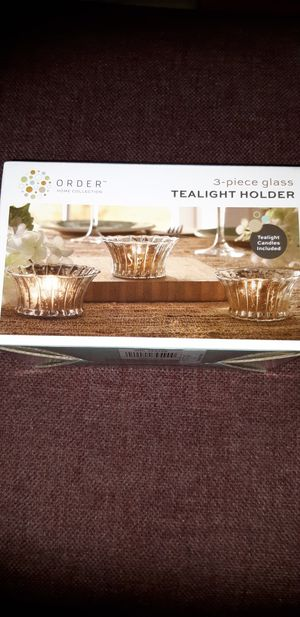 3-Piece. Glass Tealight Holder for Sale in Olney, MD