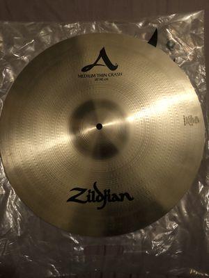 "Zildjian A 18"" crash medium thin symbol for Sale in Los Angeles, CA"