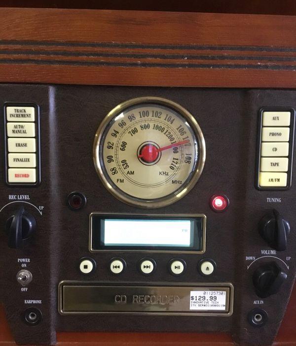 Innovative ITVS-750 Turntable CD Recorder Combo
