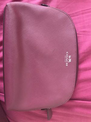 Leather Coach Large Cosmetic bag for Sale in Dallas, TX