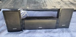 Sony speakers - set of 3 for Sale in Hutchinson, KS