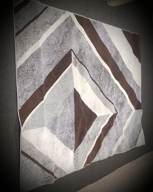 Large Stain Resistant area rug Black/Gray for Sale in Mesa, AZ