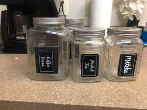 Chalk Board glass Jars (4) for Sale in Auburn, WA