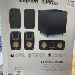 Brand New Klipsch Reference Theater Pack 5.1 Surround speaker System $500 for Sale in Coopersburg, PA