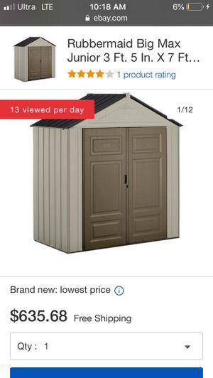 BIG MAX JR Rubbermaid 7'x4 for Sale in Fullerton, CA
