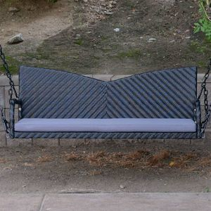 "Black 52"" Patio Porch Swing Chair Wicker Tree Ceiling Hanging Chain for Sale in El Monte, CA"