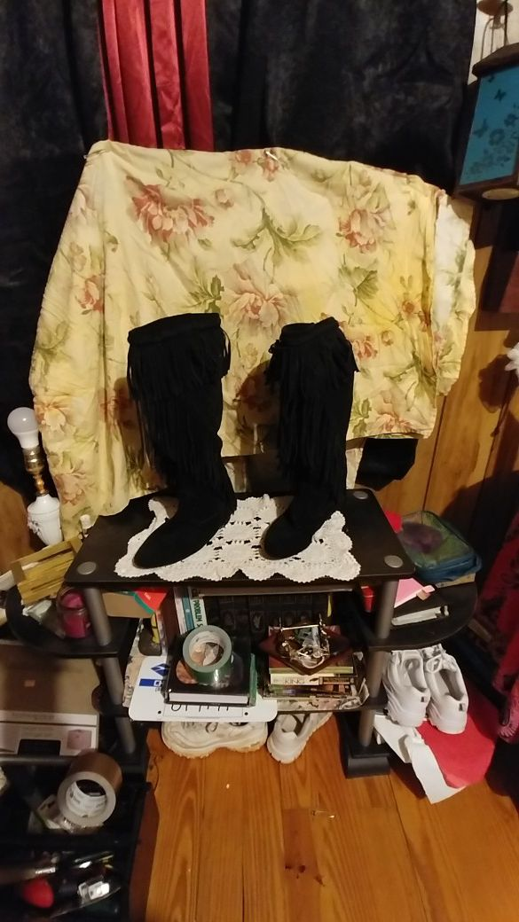 Boone Fringe knee boots
