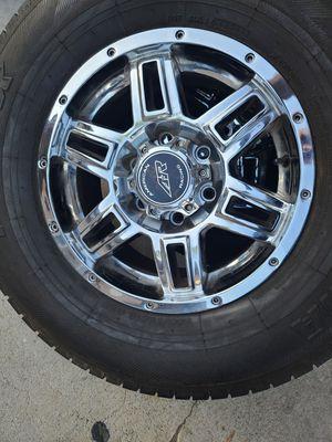 "Wheels and tires 265/70r16"" 6 lug Silverado Tahoe Yukon suburban escalade avalanche gmc 6x5,5 or 6x139,7 Toyota Tacoma tundra 4 runners fj cruiser for Sale in Riverside, CA"