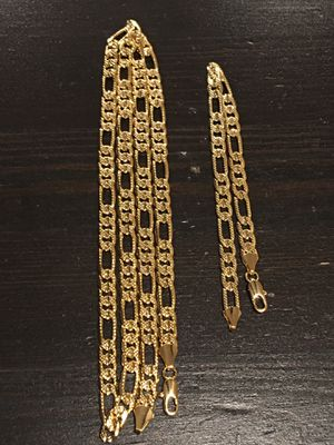 14k gold plated chain and bracelet for Sale in Auburn, WA