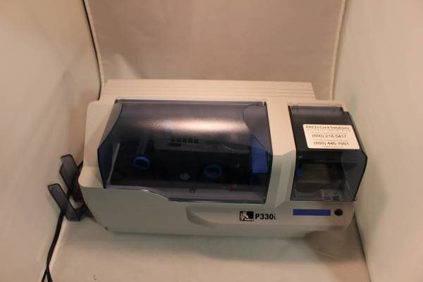Zebra P330I Badge PVC ID Card Thermal Printer USB - P330i-0000A-ID0