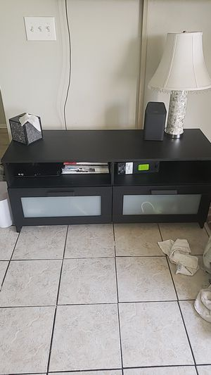 Black ikea TV stand for Sale in Las Vegas, NV