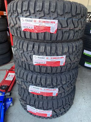 33/12.50/22 new rough terrain tires for Sale in Moreno Valley, CA