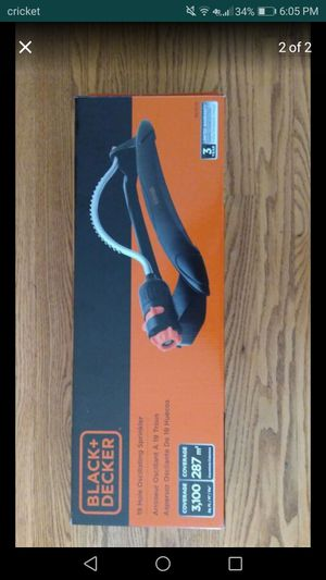 Black decker 19 hole oscillating sprinkler, 3100 sq ft, brand new with 3 yr warranty for Sale in Park Ridge, IL