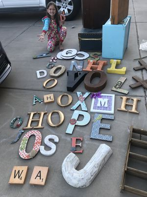 Lots of wood and metal letters for Sale in Scottsdale, AZ
