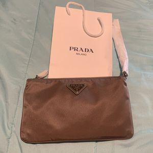 Prada Logo Plaque Nylon Clutch Bag for Sale in Vallejo, CA
