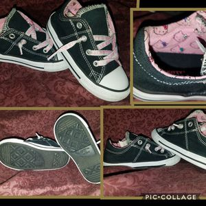 Toddler Converse black Hello Kitty shoes for Sale in undefined