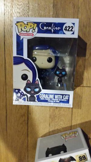 Coraline with cat Funko Pop figure new movie toy Tim Burton for Sale in Hartford, CT