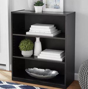 """31"""" 3 Shelf Bookcase, Black/Oak/White for Sale in Hoffman Estates, IL"""