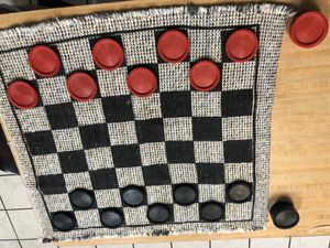 Checkerboard / tic tac toe blanket game for Sale in Dallas, TX