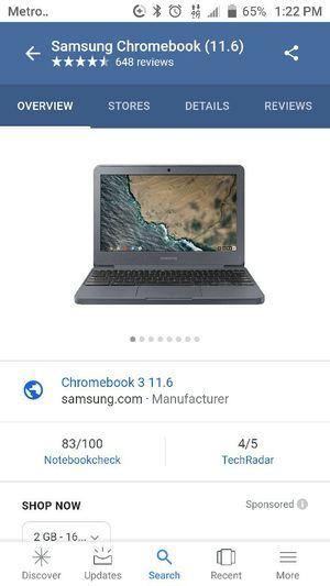 Samsung chromebook laptop for Sale in Philadelphia, PA