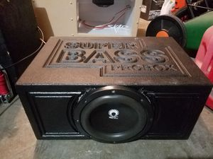 "RE audio 10"" subwoofer in super bass pro enclosure for Sale in Bellevue, WA"