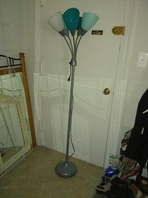 Floor lamp plastic shade 5 arm for Sale in Alexandria, VA