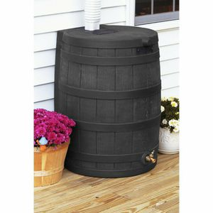 Rain Wizard Black 50 Gallon Rain Barrel with Matching Stand for Sale in Hampstead, MD
