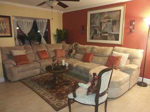 Tan Sleeper Sectional for Sale for Sale in Boynton Beach, FL