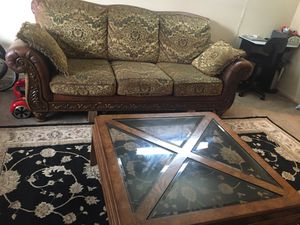Sofa set with love seat and coffee table for Sale in Sayreville, NJ
