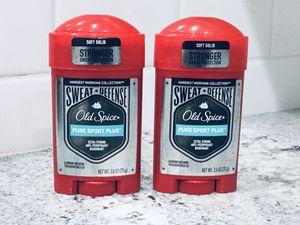 (2) Old Spice Sweat Defense Pure Sport Plus Deodorants for Sale in Phoenix, AZ