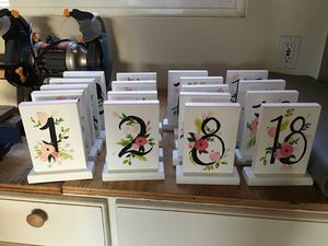 Custom made table numbers for weddings/events for Sale in Seattle, WA